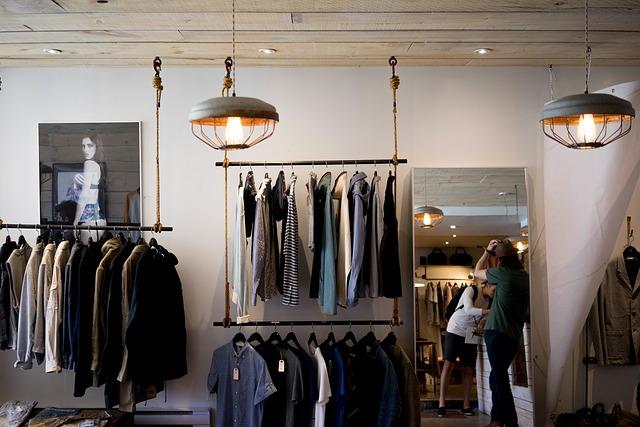 stojak na ubrania do sklepu składany typ st063